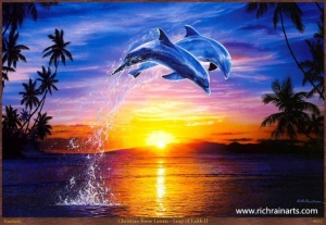 China Fishes Oil Painting on sale