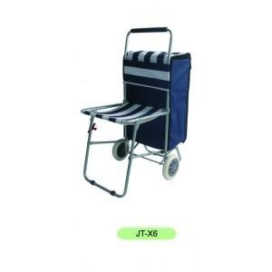 China Foldable Shopping Cart/Chair, Camping chair on sale