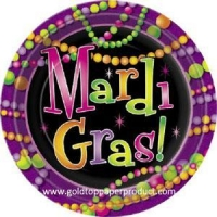 Paper Plate Mardi Gras Beads Paper Plate