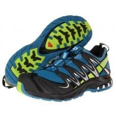 China Salomon Men's XA Pro 3D Trail Running Shoes - Darkness Blue/Granny Green on sale