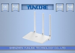 Desktop 11n Wireless Router With 3 5dBi MIMO Antenna 2T2R For Home