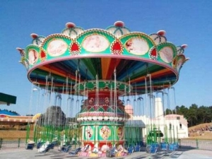 China Family And kiddie rides Shaking head flying chair on sale