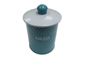China Vintage cookie tin can with metal cap on sale