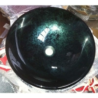 quality handcrafted tempered glass washbasins for america market