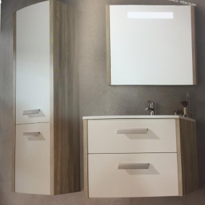China hanging bathroom cabinet mirror with white cabinet door on sale