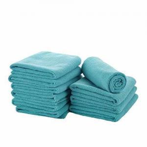 China EHOMEBUY 12 x 16-Inch Microfiber Car Wash Cloth, Green Blue Pack of 5 on sale