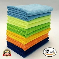 China MaxLit- MicroFiber Cleaning Cloth 12 PC Color Pack, 16 x 16 in. on sale