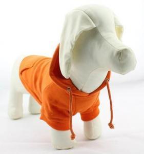China Dog Clothes Orange Dog Hoodie on sale