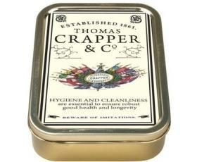 China Robert Opie Thomas Crapper Collector Keepsake Tin Retro on sale