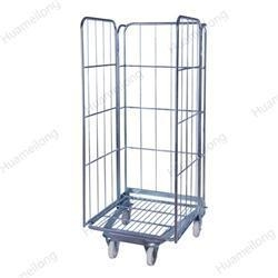 China A-frame foldable security storage wire metal warehouse supermarket roll cages on sale