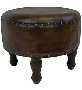 China Faux Leather Round Stool on sale