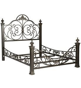 China Baroque Metal Bed Frame on sale