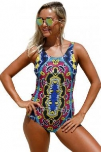 China Moroccan Dreams Tribal Print One Piece Swimsuit LC410230 on sale