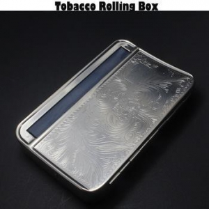 China New Fancy 110 MM Cigarette Rolling Tobacco Machine Metal Cigarette Box Cigarette Rolling Case on sale