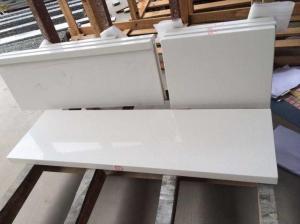 China White Quartz Kitchen Countertops on sale