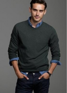 China Men's Casual | Basic Round Neck Wool Sweater on sale