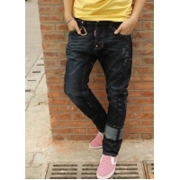 China Men's Low Waist Peg Leg Jeans | Pants Dark Blue on sale