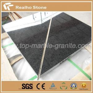 China Leathered G684 Black Pearl Fuding Black Basalt Granite Tiles on sale
