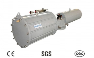 China Spring Return / Quarter Turn Pneumatic Actuator , Single Cylinder Heavy Duty Actuator on sale
