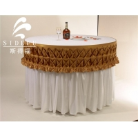 Hotel Round Decorative Banquet Party Luau Satin Table Skirt