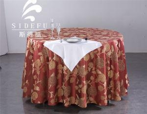 China Table Linen Hotel Jacquard Round Table Cloth on sale