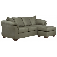 China Contemporary Sofa Chaise with Flared Back Pillows on sale