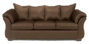 China Contemporary Stationary Sofa with Flared Back Pillows on sale