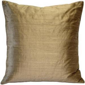 China Sankara Gold Silk Throw Pillow 20x20 on sale