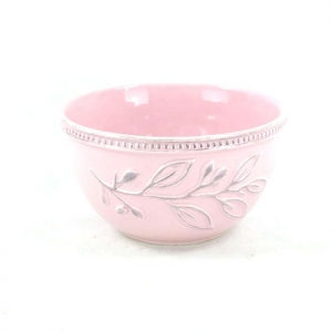 China Leisure Bags Pink ceramic bowl made in Portugal on sale