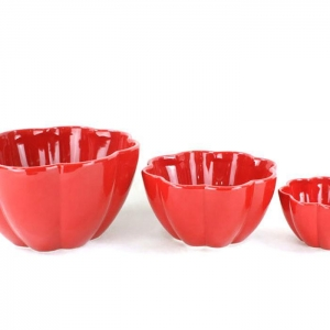 China Leisure Bags Red ceramic bowl vintage modern on sale