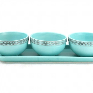 China Leisure Bags Light blue ceramic fruit bowl on sale