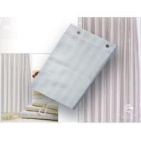 Hotel High Quality Waterproof White Satin Stripe Shower Curtain