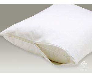 China Water Proof Terry Cloth Hotel 100% Cotton Pillow Case with Zipper on sale