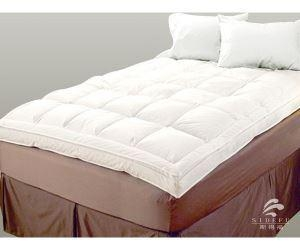 China Hotel High Quality Ultra Soft White Feather Quilted Mattress Topper on sale