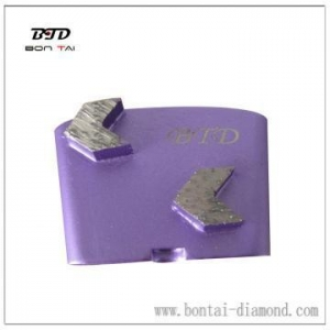 China Shoe with Arrow Segments for Concrete Grinding for HTC on sale