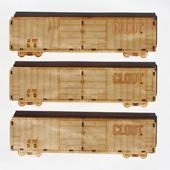 China Art & Collectibles Clout Laser Etched Wood Model Train Clout Laser Etched Wood Model Train [1006648] on sale