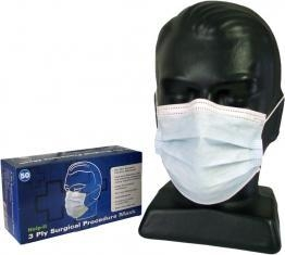 China 3ply Doctors Mask, 99% Efficient with Ties NZ Made Box of 50 Units on sale