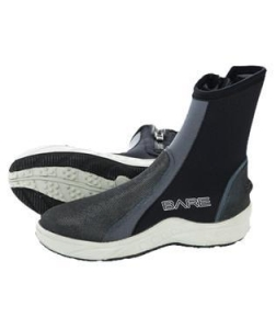 China Bare 6mm Ice Heavy Duty Molded Sole Zippered Scuba Diving Booties with Durable Toe and Heel Cap on sale