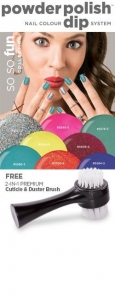 China So So Fun 1.6 oz Powder Polish Collection & FREE! 2-n-1 Brush on sale