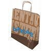 China Printed Paper Carrier Bags Brown SOS Twisted Handle on sale