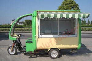 China Square Food Trailer on sale