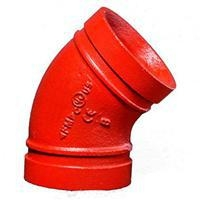 China Grooved fitting Grooved elbow 45 on sale