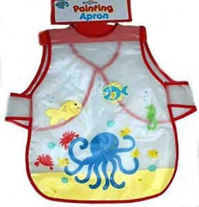 China Childs Red Art And Craft, Painting And Cooking Apron by a to z by padgett on sale