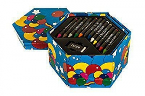 China Hillington Childrens 52 Pcs Craft Art Artists Set Hexagonal Box Crayons Paints Pens Pencils by HSI on sale