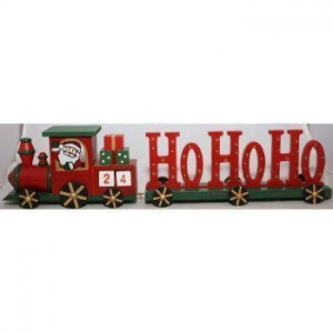 China Wooden Christmas Advent Calendar Train With Ho Ho Ho Carriage by from Then to Now on sale