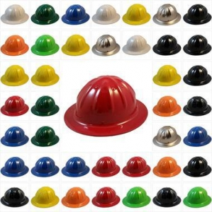 China Skullbucket Full Brim Hard Hats - All Colors on sale