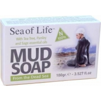 China Sea of Life Natural Health Soaps Item No: 242073 Mud Soap with Tea Tree, Parsley & Sage on sale