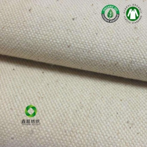 China Organic cotton fabric Cotton Martin canvas for tote bag &shoes factory whoszle on sale