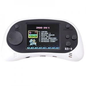 China ZHISHAN Kids Classic Retro Portable Handheld Video Game Console Player 2.5LCD 8 Bit 260 in 1 White on sale