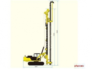 China Drilling Rig KR90M Hydraulic CFA Rotary Drilling Rig on sale